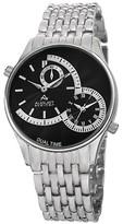 August Steiner Men's Quartz Dual Time Bracelet Watch - Silver/Black