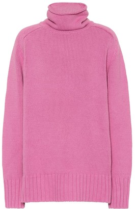Joseph Cotton-blend turtleneck sweater