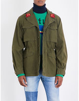 Gucci Embroidered Cotton-drill Military Jacket
