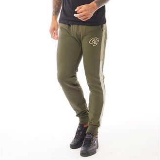 Crosshatch Mens Tarampa 2 Colour Panel Joggers Green