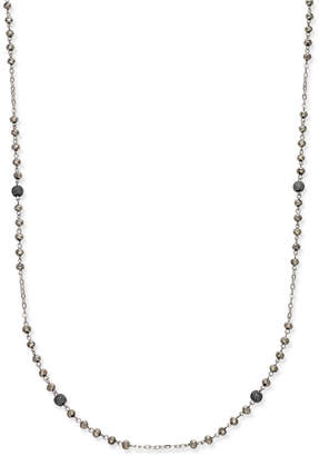 INC International Concepts Inc Two-Tone Pave Beaded Station Necklace