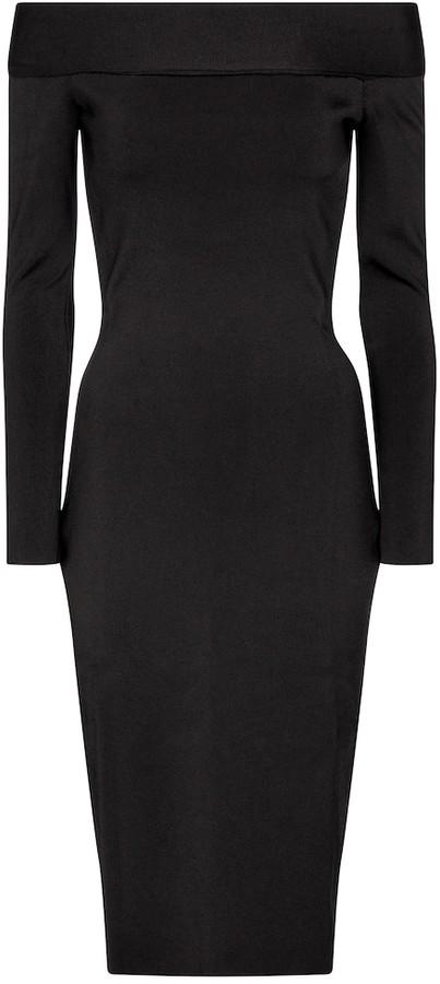 Victoria Beckham Stretch-knit off-shoulder dress