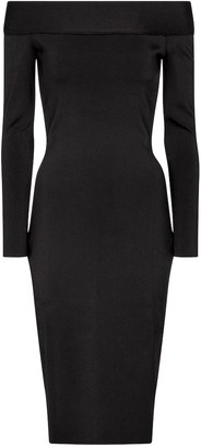 Victoria Beckham Stretch-knit off-shoulder dress