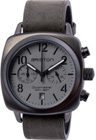 Briston 15140.SPG.C.12.LVB clubmaster classic steel and canvas chronograph watch