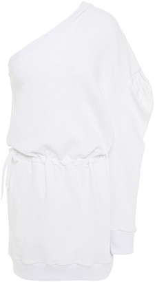 Alexandre Vauthier One-shoulder Gathered French Cotton-terry Mini Dress