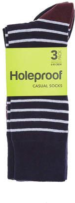 Bonds Holeproof Mens Everyday Casual Crew Socks 3 Pack