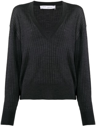 IRO Plunging V-Neck Merino Sweater