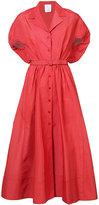 Rosie Assoulin belted midi dress - women - Silk/Cotton/Nylon/Polyester - 2