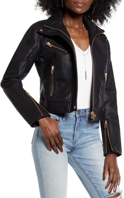 Blanknyc Denim The Essentials Faux Leather Moto Jacket