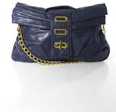 Big Buddha Purple Leather Gold Tone Chain Hardware Crossbody Handbag