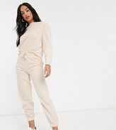 Micha Lounge relaxed sweatpants with zip cuffs in fleece two-piece