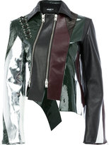 Yang Li panelled leather jacket - women - Calf Leather - 40
