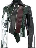 Yang Li panelled leather jacket