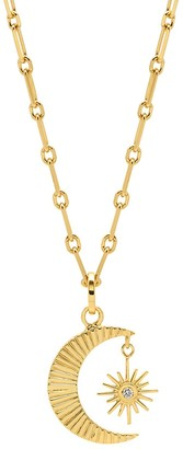 Lola Rose London Celestial Star & Moon Chain Necklace Gold
