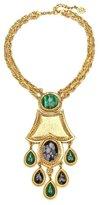 Ben-Amun Gypset Malachite Drop Statement Necklace