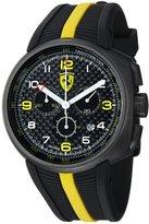 Ferrari Men's FE-10-GUN-CG/FC-FC Black Rubber Swiss Chronograph Watch with Black Dial