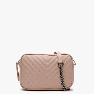 Daniel Delilah Nude Leather Quilted Cross-Body Bag