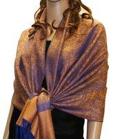 NYFASHION101 Fabulous Large Soft Paisley Scarf Shawl Wrap (Plum )