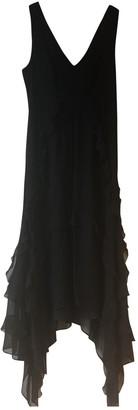 Elizabeth and James Black Silk Dresses