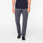Paul Smith Men's Slate Grey Stretch-Cotton Corduroy Trousers