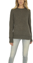R 13 Distressed Edge Cashmere Crewneck Sweater