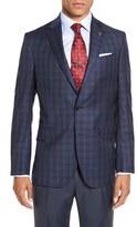 Ted Baker Men's 'Jones' Trim Fit Plaid Wool Sport Coat