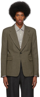 Dries Van Noten Tan Wool and Cotton Blazer
