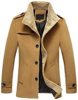 Win8Fong Men's Coats Lambs Wool Men's Clothing Woolen Cloth Coat (, L)
