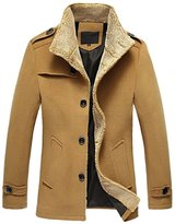 Win8Fong Men's Coats Lambs Wool Men's Clothing Woolen Cloth Coat