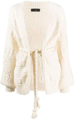 Saloni chunky-knit cardigan