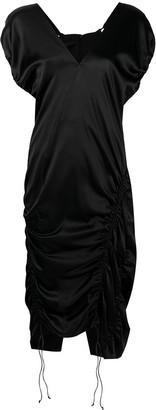 Helmut Lang Ruched Drawstring Dress