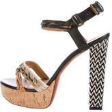 Lanvin Mixed Media Sandals