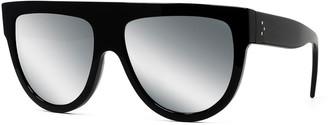 Celine Men's Smoke Mirror Solid Plastic Sunglasses