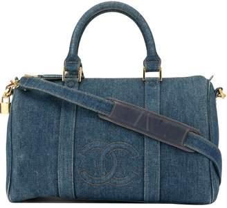 Chanel Pre-Owned CC stitch denim Boston 2way bag