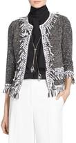 St. John Speckled Nita Tweed Knit Jacket