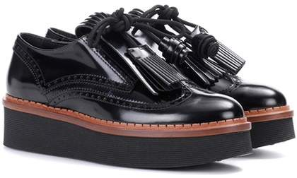 Tod's Leather platform Derby shoes