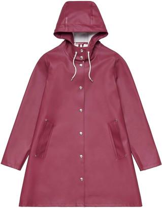 Stutterheim Burgundy Womens Mosebacke Raincoat - burgundy | m - Burgundy