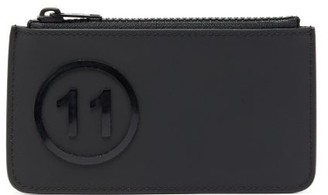 Maison Margiela 11 Logo-embossed Leather Card Holder - Mens - Black