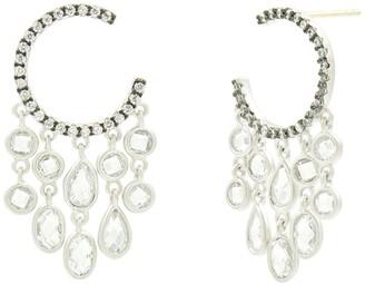 Freida Rothman Chandelier Hoop Earrings