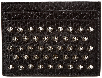 Christian Louboutin W Kios Snake-Embossed Leather Card Holder