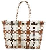 Salvatore Ferragamo Basketwoven Leather Tote