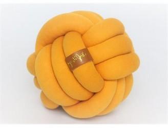 JuJu & Jake Large Knot Pillow - Mustard Yellow