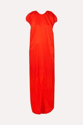 Jil Sander Gathered Crinkled-habotai Maxi Dress - FR32