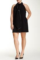 ABS by Allen Schwartz Draped Detail Halter Dress (Plus Size)