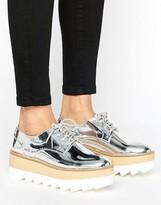 Pull&Bear Metallic Flatform Shoe