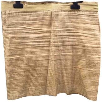 Plein Sud Jeans Ecru Cotton Skirt for Women