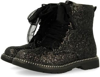 GIOSEPPO Girls' 46682-p Slouch Boots Black Negro 1 UK 1UK Child