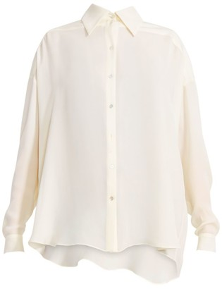 Magda Butrym Vegas Fringed Silk Shirt