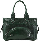 Leather Bag with Grommets