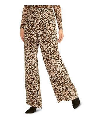 Rachel Roy Womens Brown Zippered Animal Print Pants Size: 2